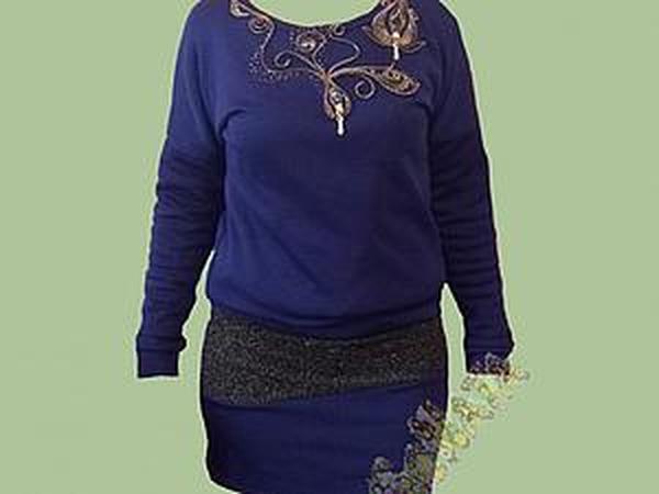 Преображаем простое платье с помощью молний и бисера   Ярмарка Мастеров - ручная работа, handmade