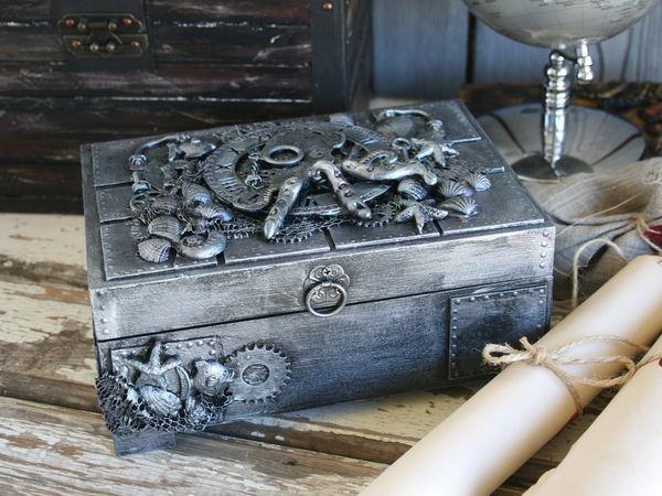 Создаем стимпанк-шкатулку «Осьминог» своими руками   Ярмарка Мастеров - ручная работа, handmade