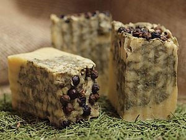 Можжевеловое мыло ГС с зеленой глиной | Ярмарка Мастеров - ручная работа, handmade