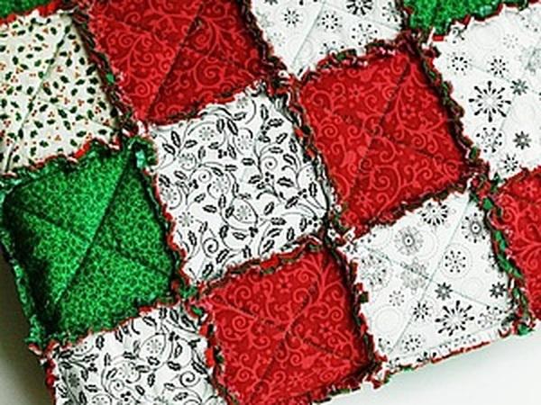 Создаем лоскутный плед «Новогодний» в технике rag quilt | Ярмарка Мастеров - ручная работа, handmade