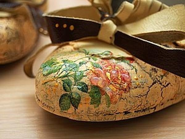 b381ab242 Преображение туфель. Декупаж обуви – мастер-класс для начинающих и ...