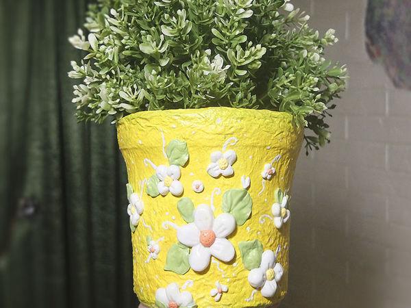 Making a Nice Pot from Plastic Bucket | Livemaster - handmade