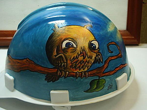 Painting a Construction Helmet DIY | Livemaster - handmade