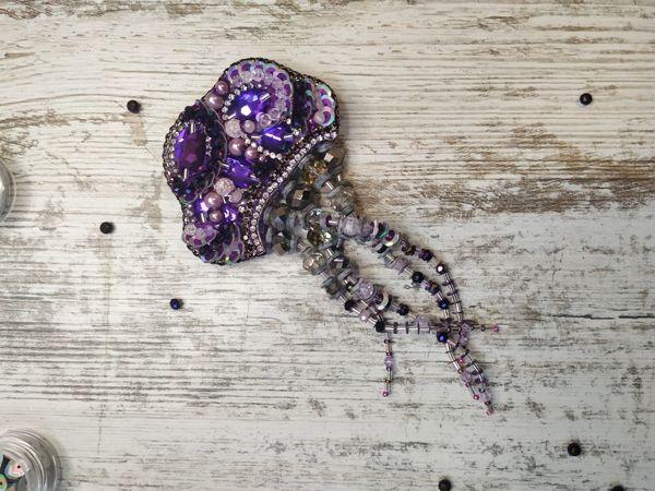 Создаем стильную брошь Медузу из бисера | Ярмарка Мастеров - ручная работа, handmade