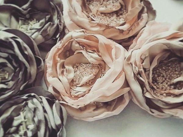 Beautiful Fabric Flowers for Clothing Decor | Livemaster - handmade