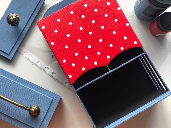DIY Переделываем чайную коробку в чайный домик — простая идея из картона | Ярмарка Мастеров - ручная работа, handmade