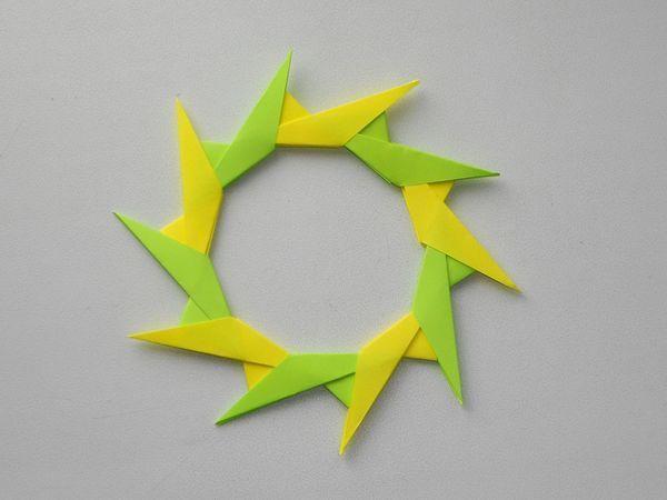 Собираем из бумаги модульную звезду. Уроки оринами   Ярмарка Мастеров - ручная работа, handmade