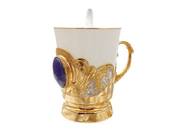 Кофейная чашка в подарок  «Лазурит» . Златоуст z281   Ярмарка Мастеров - ручная работа, handmade
