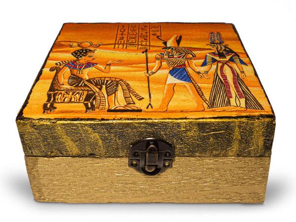 Шкатулка из картона в египетском стиле | Ярмарка Мастеров - ручная работа, handmade
