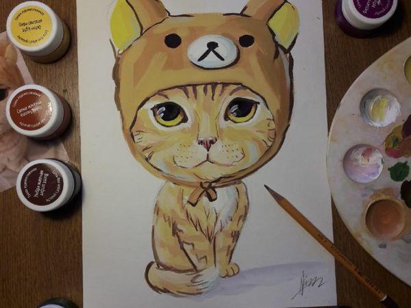 Рисуем кота. Детский мастер-класс | Ярмарка Мастеров - ручная работа, handmade