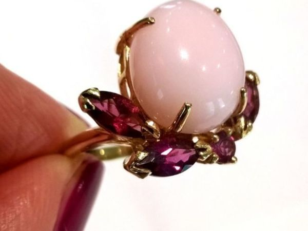 Видео кольца «Sakura» розовый опал,турмалины,золото 585 ручная работа   Ярмарка Мастеров - ручная работа, handmade