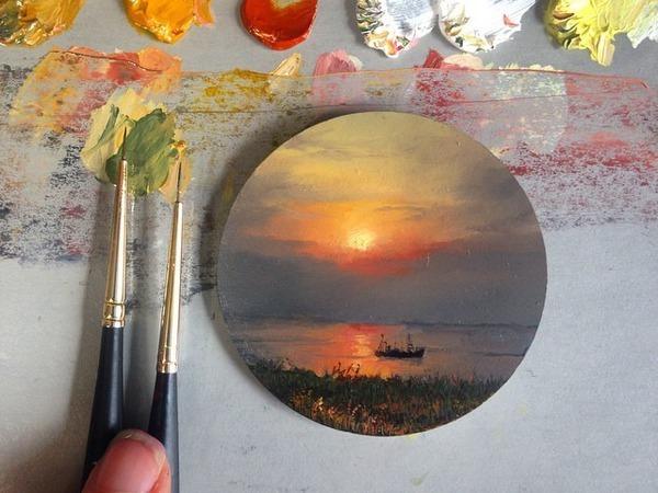 Реалистичная живопись в миниатюрах Diana Brodsky   Ярмарка Мастеров - ручная работа, handmade