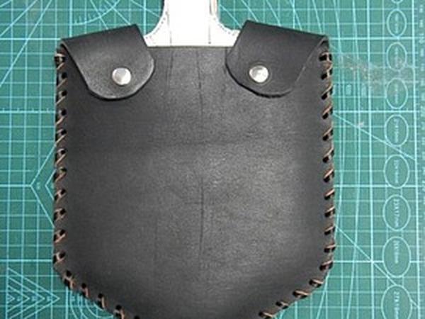 Идея для подарка на 23 февраля — делаем кожаный чехол на малую пехотную лопату | Ярмарка Мастеров - ручная работа, handmade