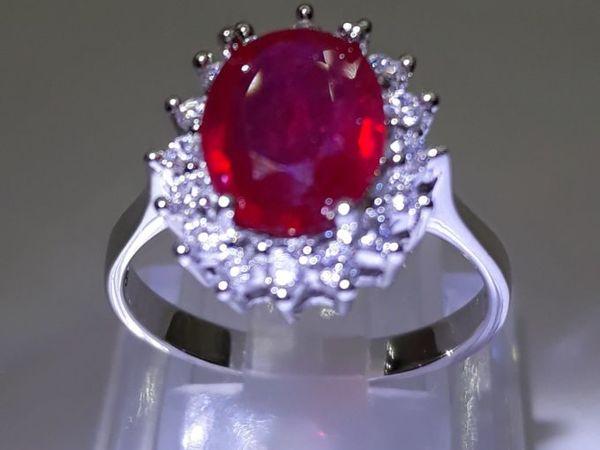 Кольцо с Натуральным Рубином  « Red Roses»  | Ярмарка Мастеров - ручная работа, handmade
