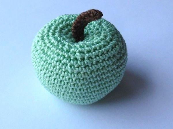 Как связать яблоко крючком | Ярмарка Мастеров - ручная работа, handmade