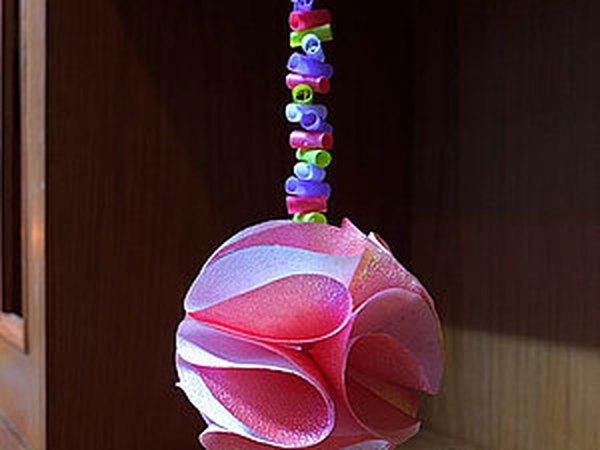 Видео мастер-класс: делаем новогодний декор — шар из бумаги   Ярмарка Мастеров - ручная работа, handmade