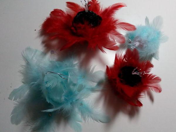 Мастерим цветы из перьев | Ярмарка Мастеров - ручная работа, handmade