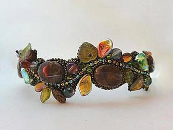Вышиваем оригинальный ободок с камнями и бусинами | Ярмарка Мастеров - ручная работа, handmade