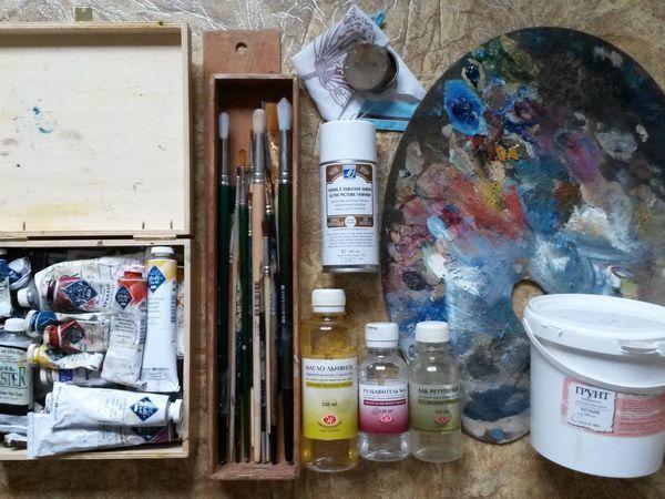 Как ухаживать за инструментами для масляной живописи | Ярмарка Мастеров - ручная работа, handmade