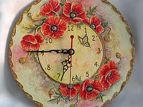 Мастер-класс по объемной росписи. Часы «Маков цвет» | Ярмарка Мастеров - ручная работа, handmade