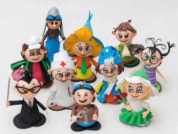 Как двигаются куклы из кукольного театра  «Незнайка» | Ярмарка Мастеров - ручная работа, handmade