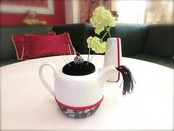 Превращение чайника в игольницу   Ярмарка Мастеров - ручная работа, handmade