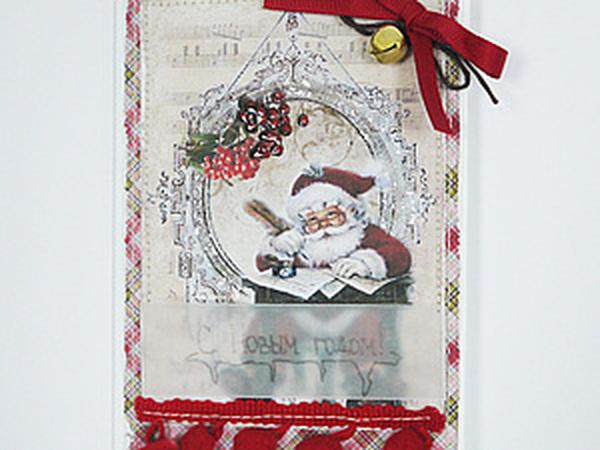 Новогодняя открытка своими руками | Ярмарка Мастеров - ручная работа, handmade