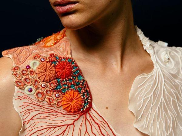 Кораллы — проект вышивки Coline Bavois | Ярмарка Мастеров - ручная работа, handmade