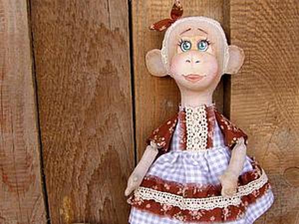 Шьем текстильную обезьянку Лесю   Ярмарка Мастеров - ручная работа, handmade