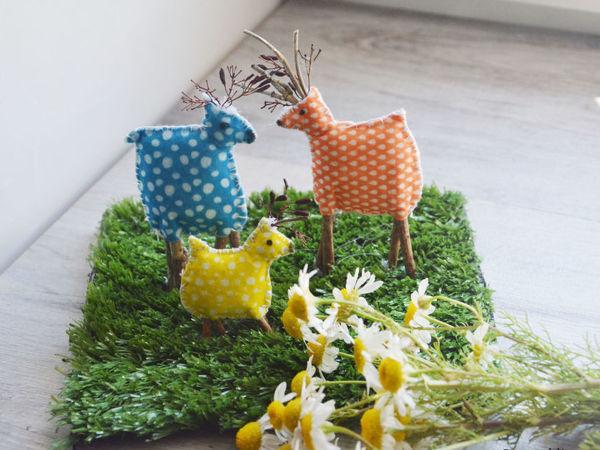 Мастерим с детьми семью оленей | Ярмарка Мастеров - ручная работа, handmade