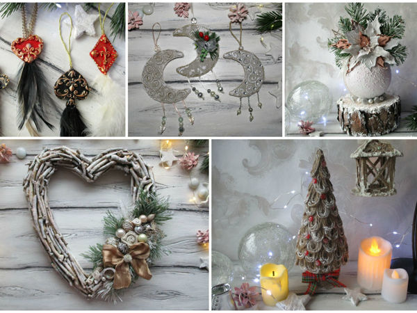 5 идей новогоднего декора | Ярмарка Мастеров - ручная работа, handmade