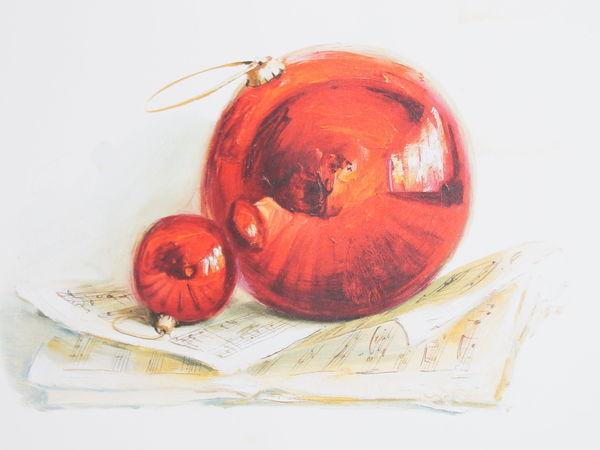 Новогодний натюрморт - декоративная работа | Ярмарка Мастеров - ручная работа, handmade