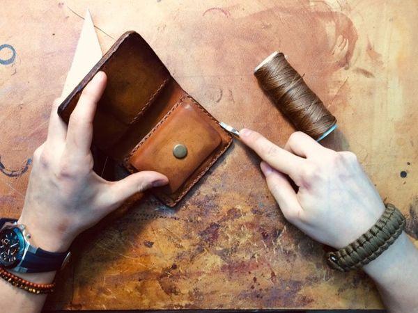 Мастер-класс по изготовлению карт-холдера из натуральной кожи   Ярмарка Мастеров - ручная работа, handmade