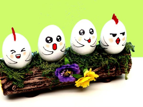 Пасхальные поделки своими руками — Подставка для яиц | Ярмарка Мастеров - ручная работа, handmade