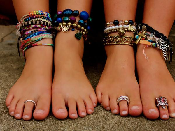 Кольца на пальцах ног для красоты и сексапильности   Ярмарка Мастеров - ручная работа, handmade