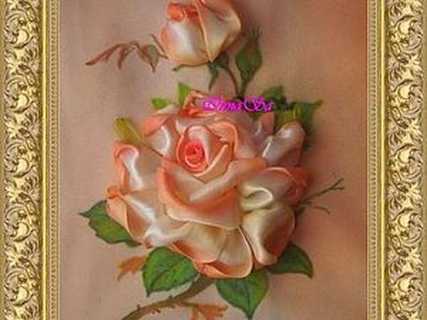 Процесс создания розы из атласных лент...   Ярмарка Мастеров - ручная работа, handmade