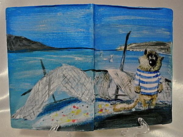 Декорирования обложки на паспорт «Добрый улов» | Ярмарка Мастеров - ручная работа, handmade