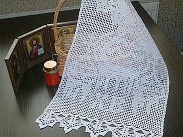 Вяжем пасхальную салфетку   Ярмарка Мастеров - ручная работа, handmade