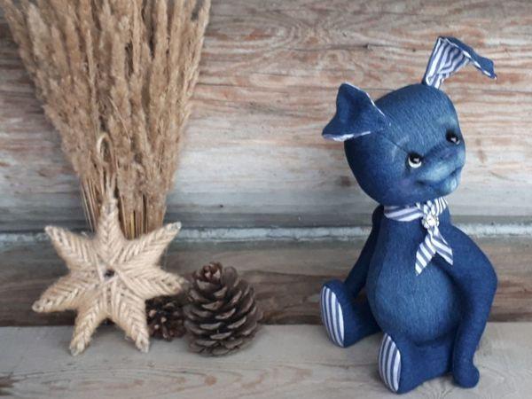 Sewing Denim Teddy Bunny   Livemaster - handmade