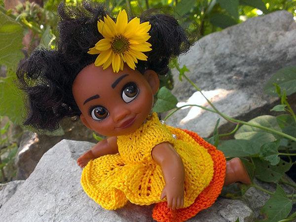 Вяжем платье «Тропиканка» для куклы Моаны | Ярмарка Мастеров - ручная работа, handmade