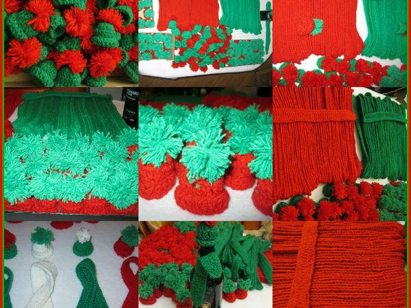 История заказа. Новогоднее оформление бутылок: шапка и шарфик | Ярмарка Мастеров - ручная работа, handmade