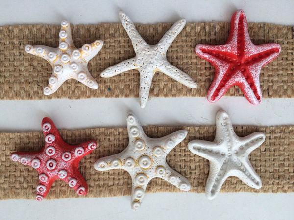Как сделать морские звезды для декора из холодного фарфора | Ярмарка Мастеров - ручная работа, handmade