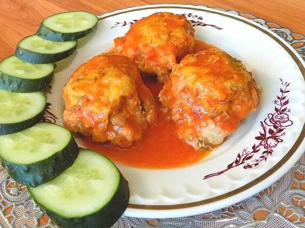 Ежики с рисом и куриным фаршем в томатном соусе | Ярмарка Мастеров - ручная работа, handmade