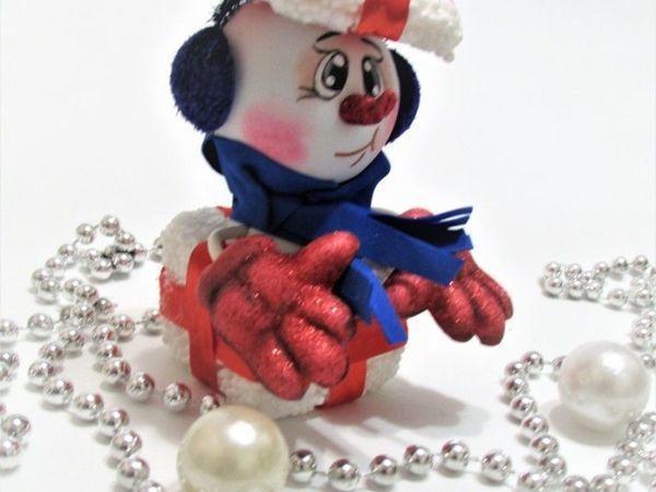 Изготавливаем Снеговика из фоамирана | Ярмарка Мастеров - ручная работа, handmade