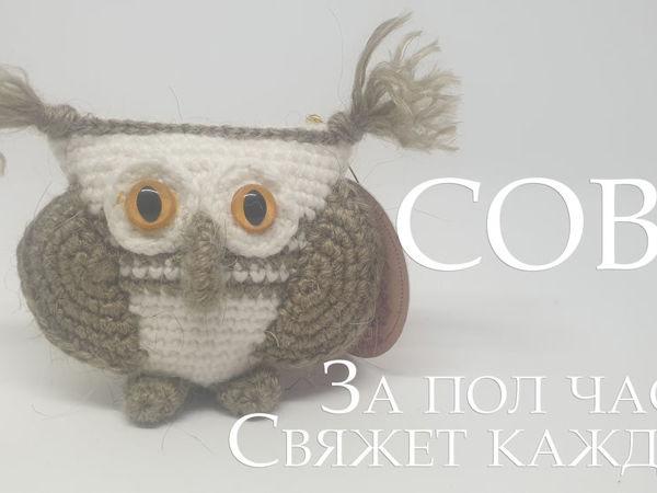Вяжем сову крючком за полчаса! | Ярмарка Мастеров - ручная работа, handmade