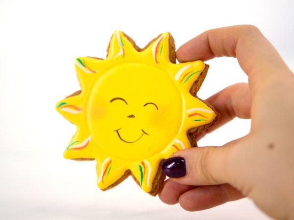 Расписываем пряничное солнышко | Ярмарка Мастеров - ручная работа, handmade