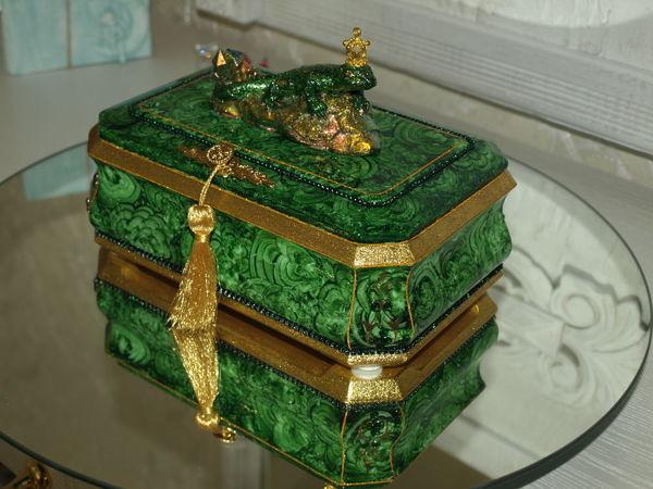 Малахитовая шкатулка №1 | Ярмарка Мастеров - ручная работа, handmade