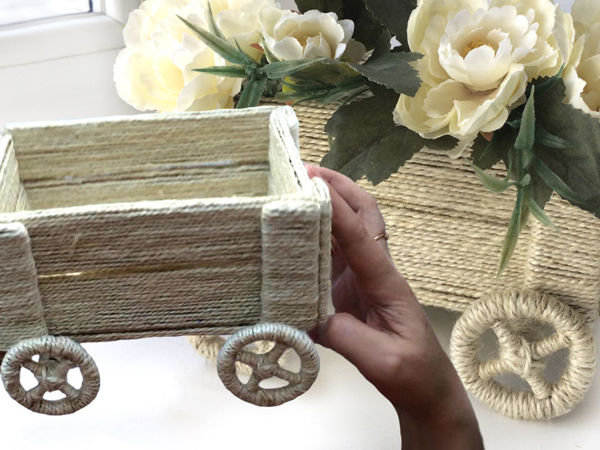 Decorating Flower Pots Made of Jute and Cardboard with your own Hands | Livemaster - handmade