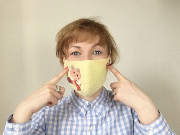 Как сшить маску для лица | Ярмарка Мастеров - ручная работа, handmade