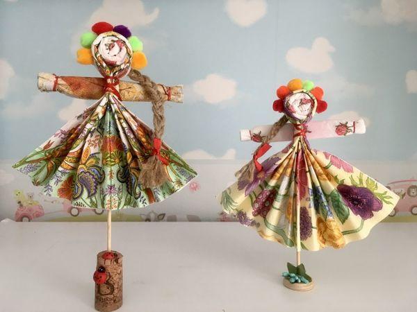Создаем оригинальные куклы-мотанки из салфеток своими руками | Ярмарка Мастеров - ручная работа, handmade